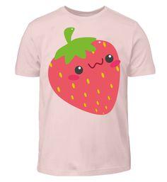 Süße Erdbeere Früchtchen - Kinder T-Shirt Playground, Back Stitch, Strawberries, Cotton