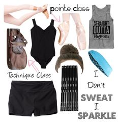 """""""Prima Ballerina…In Training"""" by adele-h-pocketbook ❤ liked on Polyvore featuring Monki, Clair Beauty, Capezio, Danskin, Tasc Performance and dancewear"""
