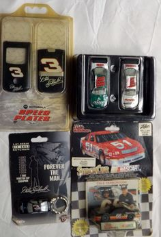 Lot 4 Dale Earnhardt NASCAR Keychain Speed Plates Yarborough Hendrik Amp #88 MIB
