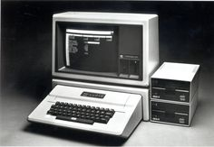 The Apple II Plus personal computer system equipped with the monitor III, two disk II floppy disk drives, and the Apple II stand which aesthetically integrates the monitor III with the Apple II Plus computer. The Apple II Plus was sold from 1979 to 1982.  Apple II+  http://www.megalextoria.com/wordpress/index.php/category/computer-arcana/apple/