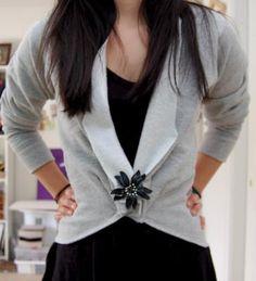DIY Clothes Refashion: DIY Sweatshirt Blazer