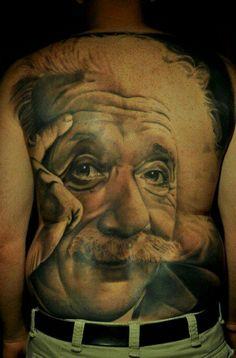 E=MC2 #Einstein #tattoo #tattoos #InkedMagazine #portrait