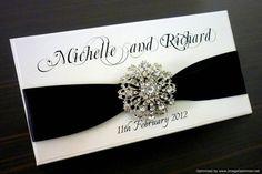 Black & White Elegant Wedding Invitation