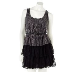My Michelle Lace Tiered Dress Dresses For Tweens, Tiered Dress, Nice Dresses, Lace Dress, My Favorite Things, Shorts, My Style, Fun, Clothes