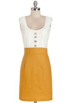 Come in Dandy Dress in Mustard, @ModCloth