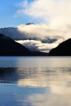 h4ilstorm:      Lake Manapouri, Southland, New Zealand, Jul 2012 (by Célia Mendes Photography)