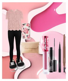 """PINK"" by batmans-wife99 on Polyvore featuring Boohoo, Valentino, Charlotte Russe, Kate Spade, MAC Cosmetics and Lime Crime"