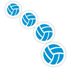eeb06fed26f6  Blue volleyballs  Sticker by Designzz