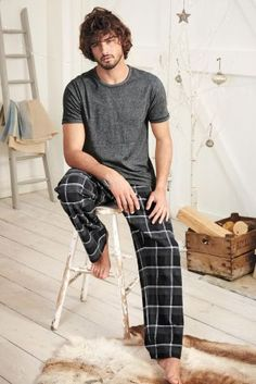 Buy Black Check Woven Set from the Next UK online shop