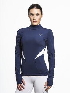 057b0aeb24b366 Winter Sport Long Sleeve Tees in Midnight Winter Sports, Workout Tops,  Fleece Fabric,