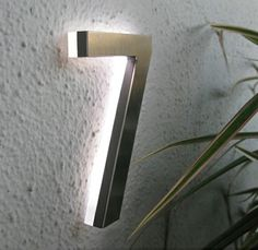 "Modern Led House Number 5"" Outdoor By Luxello LED - modern - house numbers - Surrounding - Modern Lighting & Furniture"