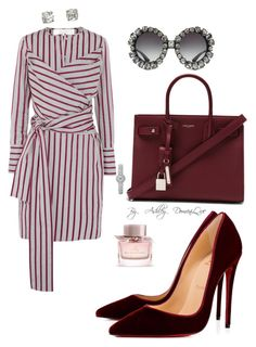 """""""Cool Teacher"""" by ashleydomenique on Polyvore featuring Victoria, Victoria Beckham, Christian Louboutin, Yves Saint Laurent, Dolce&Gabbana and Burberry"""