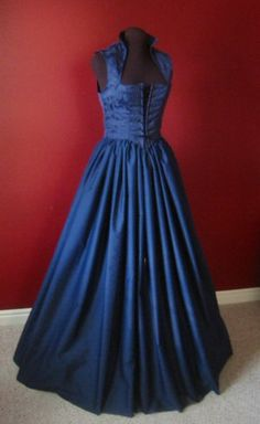 Navy Blue Renaissance Bodice and Skirt Dress or Costume Set 5 Available. $100.00, via Etsy.
