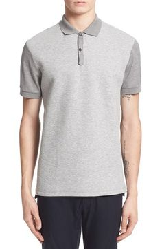 Lanvin Polo with Bonded Jersey Front