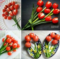Cherry Tomatoe Tuplis easter recipe recipes healthy recipes easy recipes party favors food art healthy living recipe ideas
