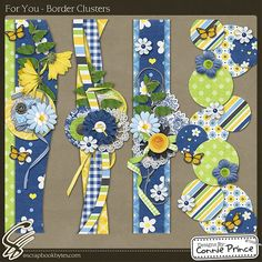 For You - Border Clusters :: Page Edges :: Embellishments :: SCRAPBOOK-BYTES
