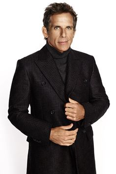 Ben Stiller in Ralph Lauren Black Label's wool coat and Brioni's wool sweater. [Photo by Matthias Vriens-McGrath]