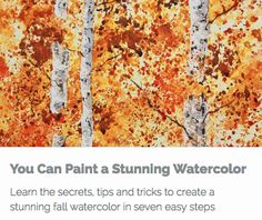 Learn how to simplify your watercolor painting? Whether a beginner or an experienced painter wishing to learn new techniques, I will show you, in seven easy-to-follow steps, how to create a stunning fall landscape in watercolors.