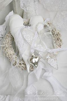 Valentine's Day. Decoration. White. Heart. Silver