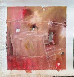 """Esencia.  La brisa del Corazón  Proyecto """"En Esencia"""" Pigmento, resina / lienzo 25×25 Proceso aditivo en un único sentido; negro, rojo, ocre, blanco."""