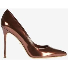 Sergio Rossi Godiva Speccio Leather Red Rubin Pump (44.235 RUB) ❤ liked on Polyvore featuring shoes, pumps, pointy toe pumps, leather sole shoes, red pointed toe shoes, red pointy toe pumps and red pointed toe pumps