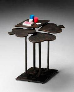 """""""Card Suits"""" Accent Table at Horchow."""