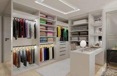 Quarto com closet: 80 projetos para inspirar esse sonho de consumo
