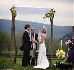 Blush: Modern Day Wedding Chuppah--the Chuppah symbolizes the home the couple will build together.