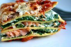 Lasagne med røkelaks, ricotta og spinat | Spiselandslaget