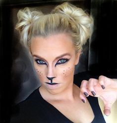Halloween Make up. Feline. Cat. Using Products on Hand. Make up ...
