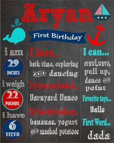 Hey, I found this really awesome Etsy listing at http://www.etsy.com/listing/174032112/printable-nautical-themed-first-birthday