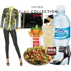 Spring Style & Wendy's® #NewSaladCollection: Pt. 1 by coppin-s on Polyvore featuring Emma Cook, Ralph Lauren Blue Label, Nine West, ZAC Zac Posen, Égotique and NewSaladCollection