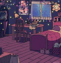 Home cosiness art cartoon room on We Heart It Bedroom Drawing, Bedroom Art, Pretty Art, Cute Art, Aesthetic Art, Aesthetic Anime, Isometric Art, Japon Illustration, Anime Scenery