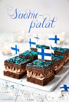 Healthy Treats, Yummy Treats, Finnish Recipes, Sweet Bakery, Cake Bars, Baking And Pastry, Seasonal Food, Sweet And Salty, Vegan Desserts