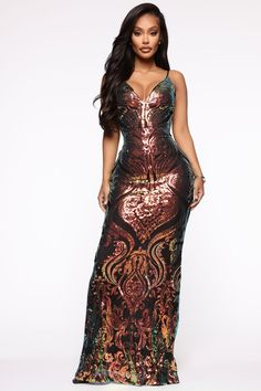 Making An Entrance Sequin Maxi Dress – MultiColor – fashion nova outfits Ootd Fashion, Couture Fashion, Friday Outfit, Sequin Maxi, Maxi Gowns, Fashion Nova Models, Red Carpet Dresses, Wedding Attire, Dress Collection