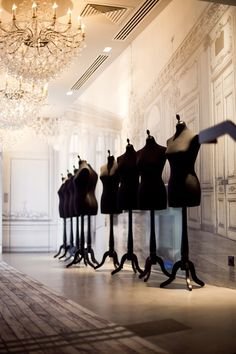 ~ Chanel, Paris The mannequins wait patiently for the next fashion season dreams to be created. Monica Matos, Boutiques, Dress Form Mannequin, Or Noir, Chanel Store, Coco Chanel, Chanel Paris, Chanel Black, Mannequins