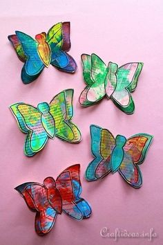 These colorful and cheery Painted Paper Spring Butterflies are just perfect for decorating during the spring and summer months!