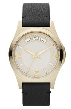 MARC BY MARC JACOBS 'Baby Dave' Leather Strap Watch, 40mm available at #Nordstrom