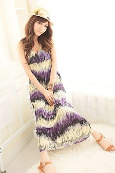 Hot Sale Purple Printing Girls Long Dresses Fashion  Item Code:#QQ38069+Purple  Price: US$13.20  Shipping Weight: 0.46KG