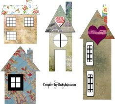 Free art collage sheets