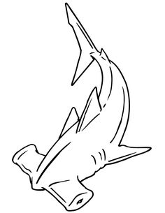 coloring pages - Hammerhead Shark Coloring Page Shark Coloring Pages, Coloring Pages To Print, Free Printable Coloring Pages, Colouring Pages, Tattoo P, Tattoo Outline, Hammerhead Shark Tattoo, Hai Tattoos, Shark Drawing