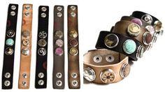 Noosa' System of interchangeable snaps - Fashion Accessories, Fashion Jewelry, Leather Jewelry, Country Girls, Cuff Bracelets, Leather Bracelets, Bracelet Watch, Jewelry Design, Jewelry Making