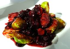 Mystery Lovers' Kitchen: Cranberry Brussels Sprouts with Maple Syrup sauce #recipe @kristadavisbook
