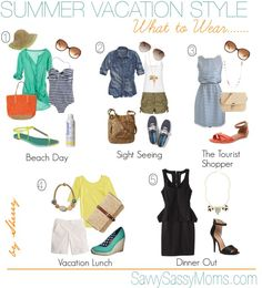 Summer vacation style: what to wear - spring break - vacation . - Summer vacation style: what to wear – spring break – vacation - Summer Travel Packing, Travel Outfit Summer, Summer Outfits, Packing Tips, Outfits For Hawaii, Beach Outfits Women Vacation, Mexico Vacation Outfits, Tropical Vacation Outfits, Style Outfits