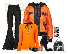"""Black and Orange"" by freida-adams ❤ liked on Polyvore featuring Moschino, Paul Andrew, Marco de Vincenzo, MM6 Maison Margiela, STELLA McCARTNEY, Joomi Lim, ZENZii, Noir Jewelry and blackandorange"
