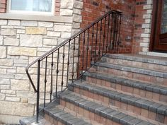 Exterior Front Step Railings