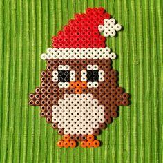 Christmas owl perler
