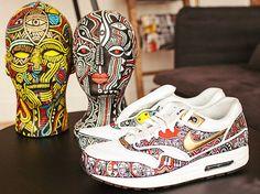Nike x Laolu Senbanjo African mystic design sneakers