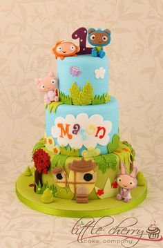 My Fave 3 Tier Waybuloo Cake Ever - by littlecherry @ CakesDecor.com - cake decorating website