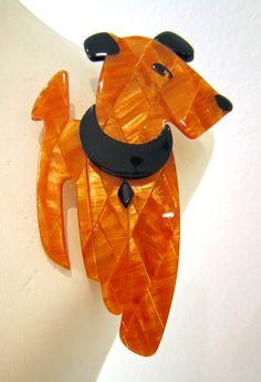Lea Stein Ric Terrier Brooch